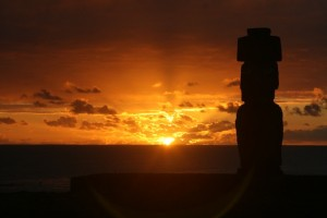 Rapa Nui Sunset by Marguerite Smit