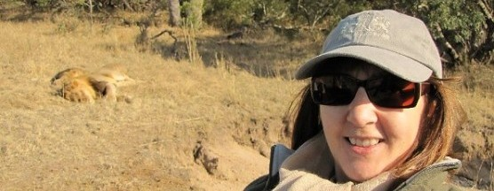 Rose Loggi with Lions on a Game Drive