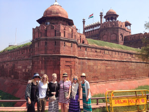 Lainie's Traveling Team at the Red Fort
