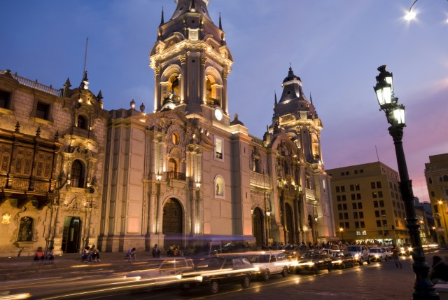 ThinkstockPhotos-116596842-Catedral on plaza de armas mayor lima peru_jpg