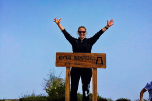 Kayla at Machu Picchu Mountain's Summit