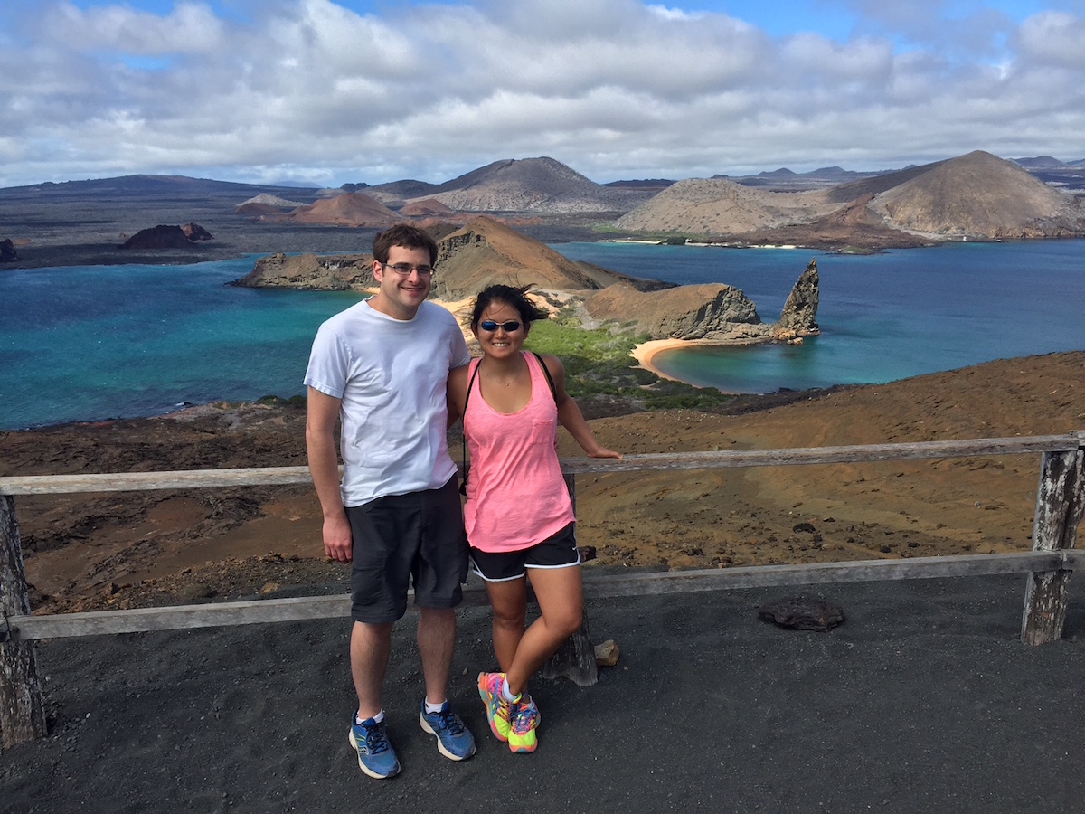 Nicole Cooper - Nicole and her husband in the Galapagos