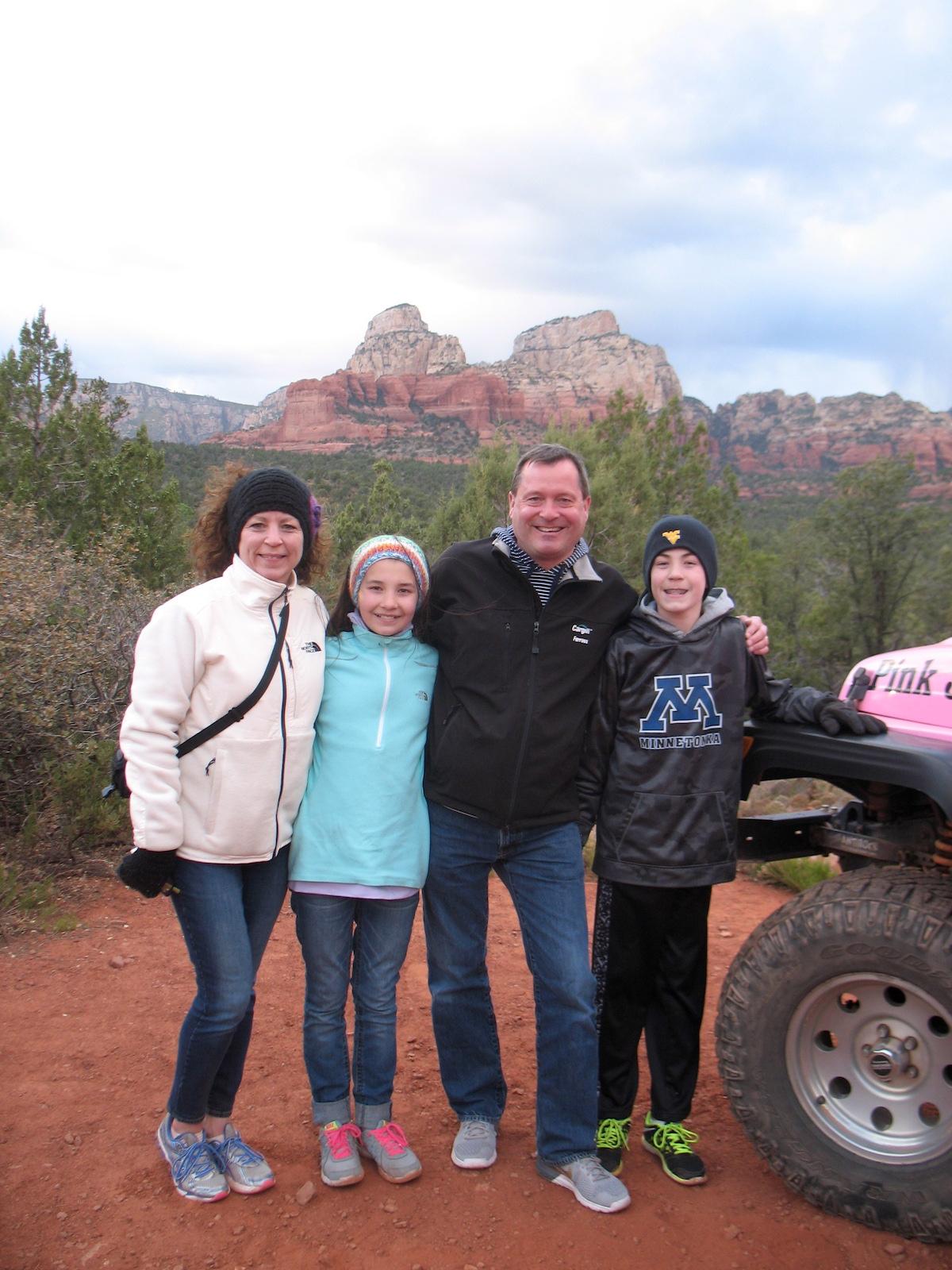 Sharon Huso - The Huso family in Sedona, Arizona