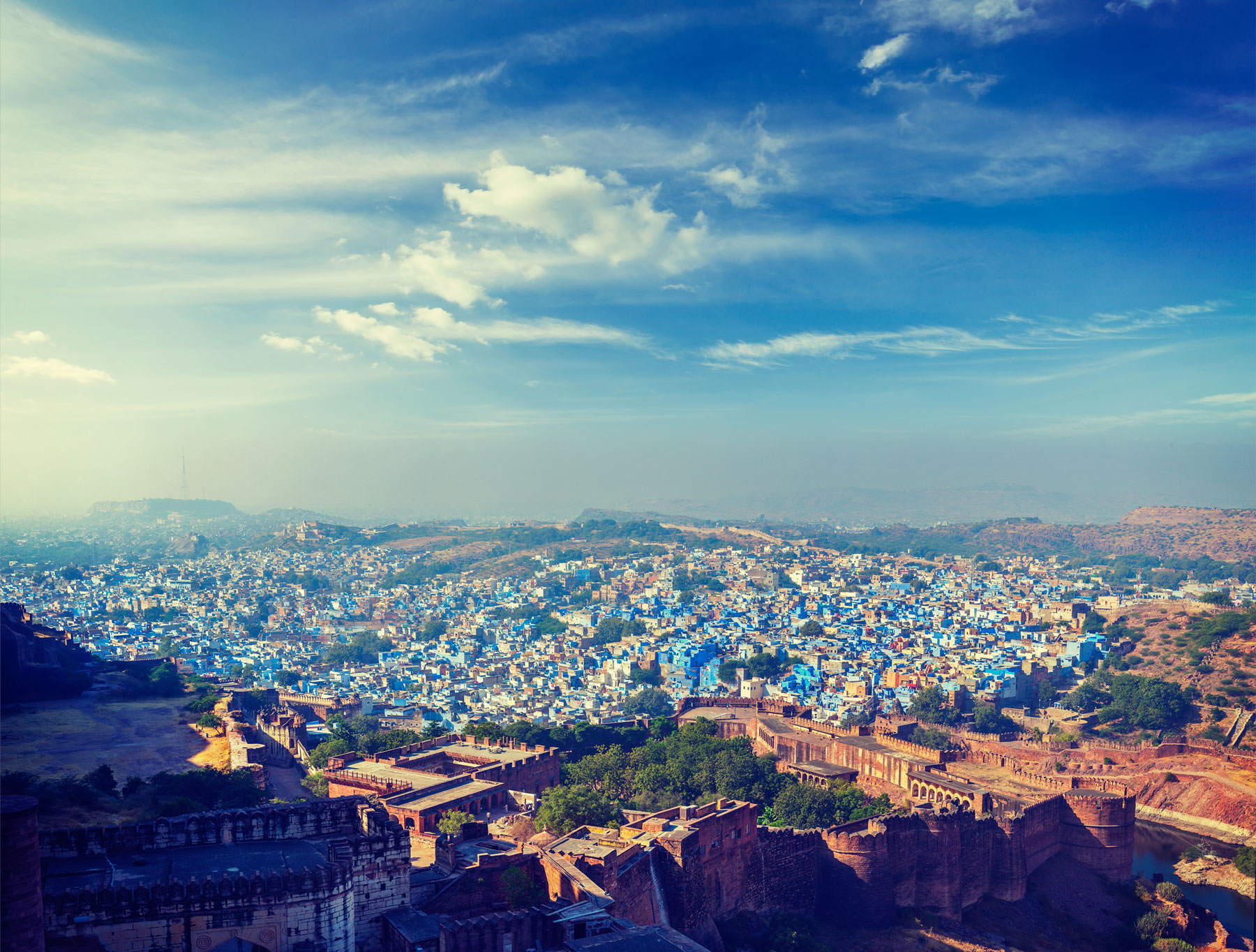 Blue City Jodhpur, India