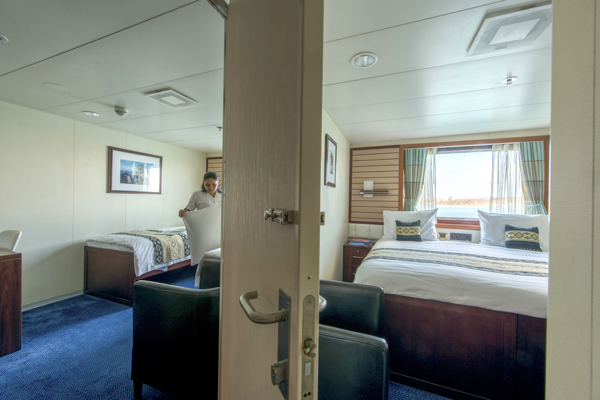 National Geographic Endeavour II. Cabin 413. Category 4 with connecting door.